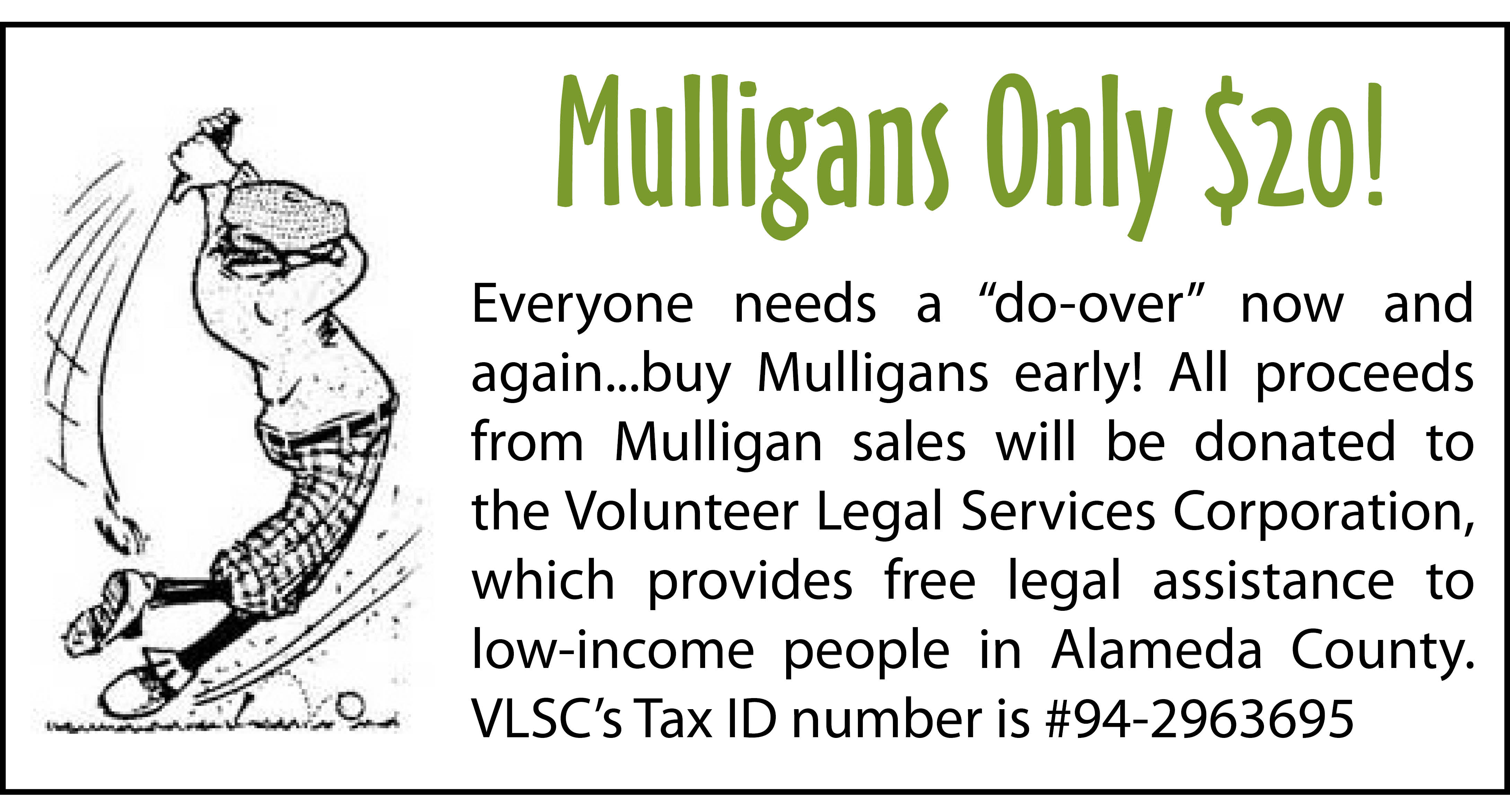 Mulligans only $20!